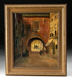 Framed & Signed 19th C. European Painting