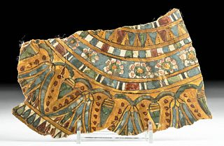 Egyptian Polychrome Cartonnage Collar Fragment