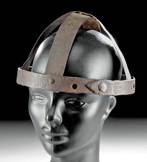 6th C. German Iron Spangenhelm Helmet Frame