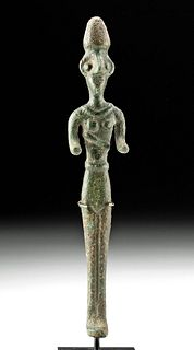 Ancient Near East Copper Standing Female Figure