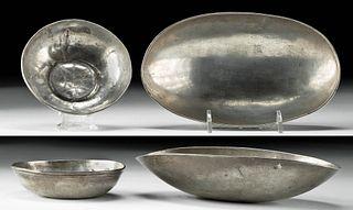 Lot of 2 Sasanian Silver Bowls - Rare