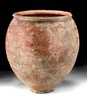 Bactrian Redware Pottery Vessel - Huge & w/ TL