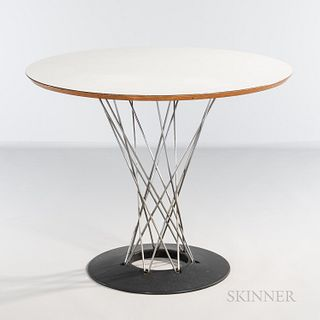 Isamu Noguchi (American, 1904-1988) for Herman Miller Cyclone Table, United States, c. 1960, chromed and enameled steel, laminated wood