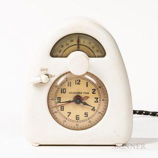 Isamu Noguchi (American, 1904-1988) for Measured Time Clock and Kitchen Timer, La Porte, Indiana, c. 1932, Bakelite, glass, printed pap