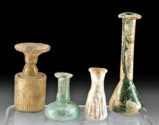 Lot of 4 Roman Glass Bottles