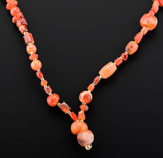 Wearable Roman Carnelian Bead Necklace