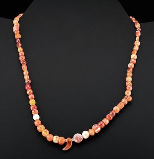Gorgeous Roman Carnelian Bead Necklace