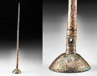 Pre-Columbian Inca Gilt Copper Tupu