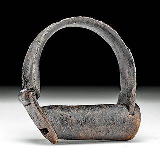 18th C. American Iron Shackle Cuff