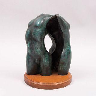 Anónimo Torzos Fundición en bronce patinado Con base de madera. 25 x 19 x 11 cm