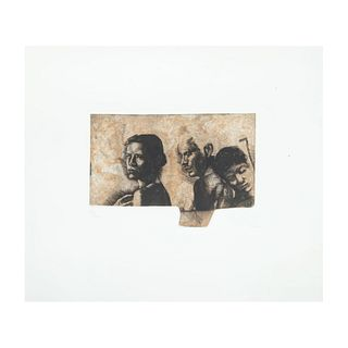 Roberto Cortázar. Sin título. Firmado a lápiz y fechado 2000. Grabado al aguafuerte 27/200. Sin enmarcar. 15 x 21.7 cm.