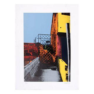 TULIO RESTREPO. Muros, fachadas, rejas, forjas. Firmada y fechada 93. Serigrafía 8 / 150.