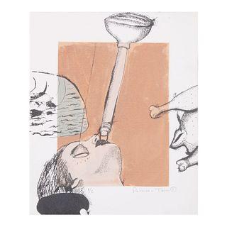 """PATRICIA TORRES """"Equilibrio"""", 2001 Firmada a lápiz al frente Serigrafía P/E Sin enmarcar 36.5 x 30 cm"""