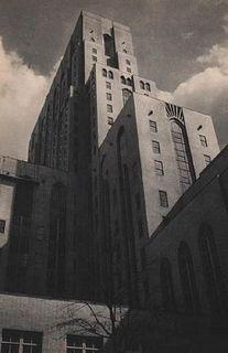 """MARIO BUCOVICH """"New York Hospital Tower"""" Huecograbado Impreso en Estados Unidos en 1930 Sin enmarcar Con certificado."""
