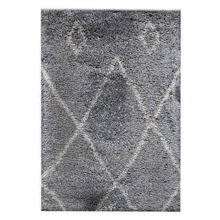 Tapete. Siglo XXI. Elaborado a máquina en fibras sintéticas. Decorado con elementos geométricos. 200 x 290 cm.