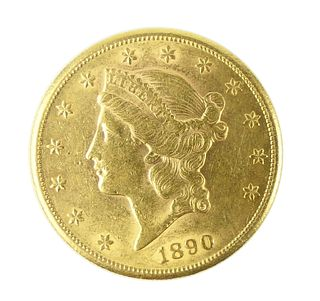 1890 s  $20 LIBERTY GOLD PIECE DOUBLE EAGLE