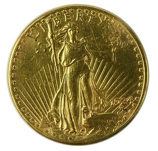1924 ST GAUDENS DOUBLE EAGLE $20 GOLD COIN