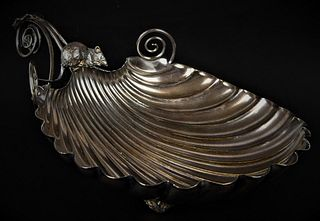 ANTIQUE ENGLISH STERLING BOWL WITH MOUSE