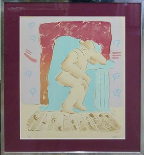 PETER MAX PSYCHEDELIC HAND SIGNED HC LITHOGRAPH