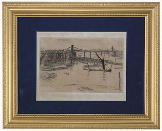James Whistler (1834-1903) Etching