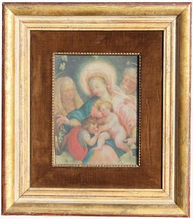 17th Century Old Master Painting of Holy Family