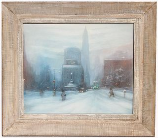Leon Dolice (1892-1960) New York Cityscape