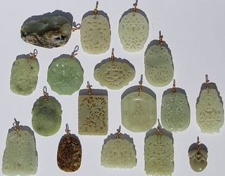 (17) Carved Chinese Jade Pendants