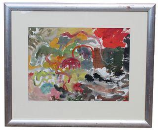 """Thomas Koether (NY, FL b. 1940) """"The Red Rock"""""""