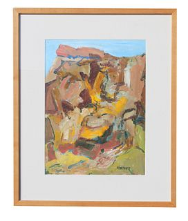 """Thomas Koether (NY b. 1940) """"Down in the Quarry"""""""