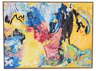 "Thomas Koether (NY, FL b. 1940) ""Fire Opal 3"""