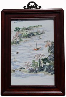 Exceptional Chinese Famille Rose Porcelain Plaque