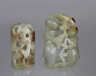 Chinese Carved/Reticulated Jade Figures