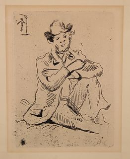Paul Cezanne (French, 1839 - 1906) Etching