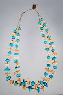 Turquoise & Mother of Pearl Necklace