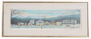 Norman Rockwell, Main Street Stockbridge '67 Print