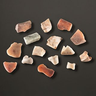 A Group of Quartz Bannerstone Fragments, Largest 1-5/8 in.