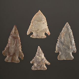 Four Pine Tree Points, Largest 1-7/8 in.