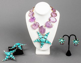 Iradj Moini Amethyst & Turquoise Jewelry Suite, 5