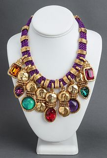 Emanuel Ungaro Gold-Tone Resin & Crystal Necklace
