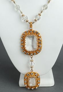 Christian Dior Crystal Sautoir Necklace, c. 1960