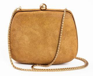 Chanel Iridescent Gold-Tone Minaudière Handbag