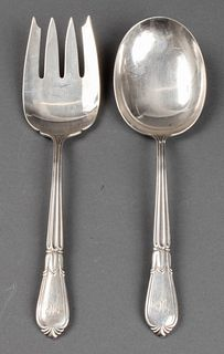 Cartier Sterling Silver Salad Servers