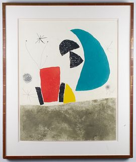 "Joan Miro ""Plate VIII (from Espriu-Miró)"" Etching"