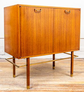 Harvey Probber Cabinet On Stand W Brass Frame