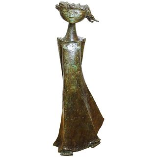 Angel Botello 'Coup de Vent II' Signed Bronze