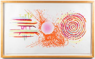 """James Rosenquist """"Rouge Pad"""" Etching, 1978"""