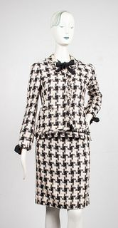 Chanel Tweed And Cashmere Three Piece Skirt Suit