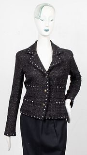 Chanel Black Tweed Blazer