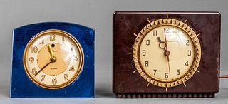 Art Deco Alarm Clocks incl. Bakelite, 2