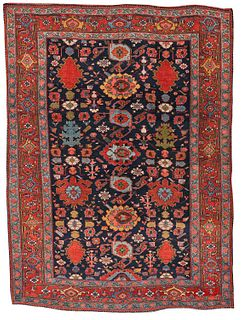 Bidjar Harshang Pattern Rug, Persia, ca. 1875; 7 ft. 2 in. x 5 ft. 3 in.